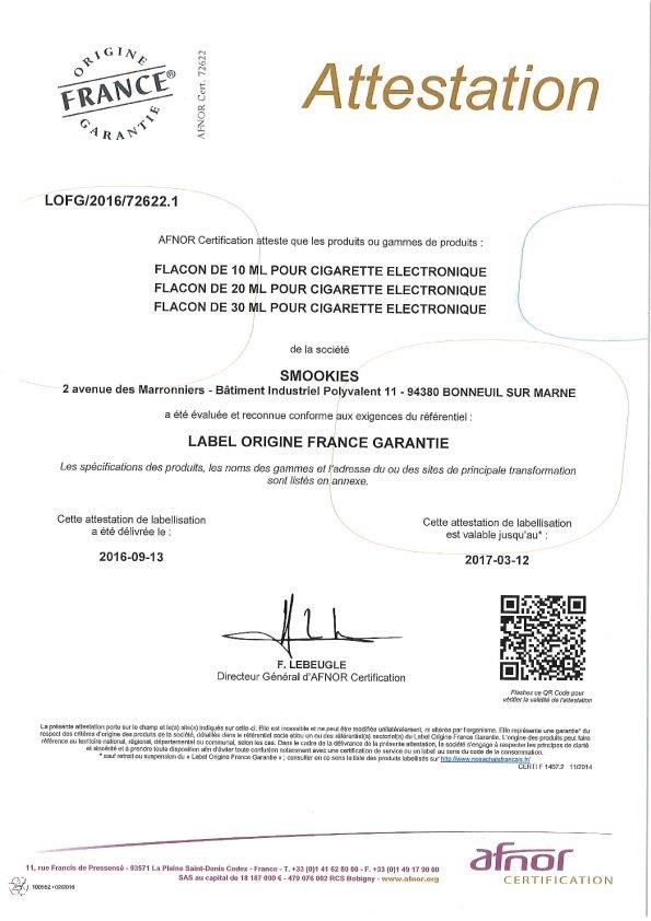 Certification Afnor 1