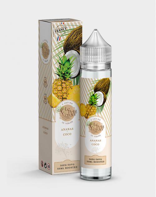 Eliquide Ananas Coco 50 ml Le petit verger